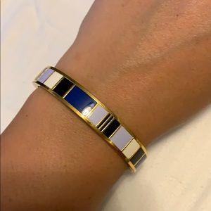 Kate Spade blue color block bangle bracelet